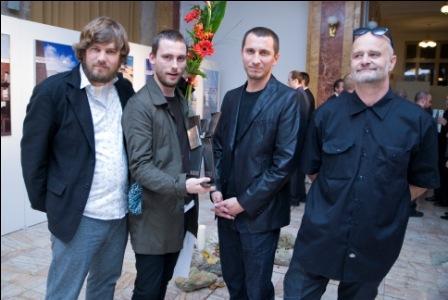 zľava Peter Jurkovič, Lukáš Kordík, Roman Halmi, Števo Polakovič